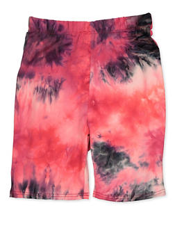 Girls 7-16 Tie Dye Bike Shorts | Neon Pink - 3619066590055