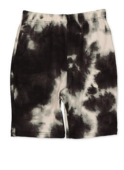 Girls 7-16 Tie Dye Bike Shorts | Charcoal - 3619066590057