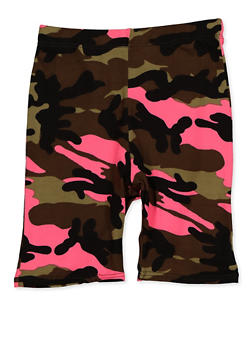 Girls 7-16 Camo Bike Shorts - 3619066590058