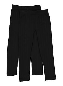 Girls 7-16 Fleece Lined Leggings Two Pack - 3619074410008