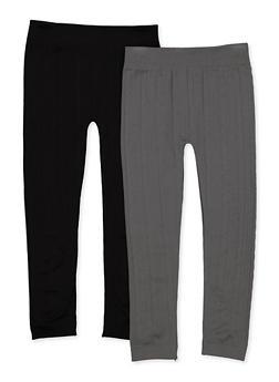 Girls 7-16 Textured Fleece Lined Leggings - 3619074410012