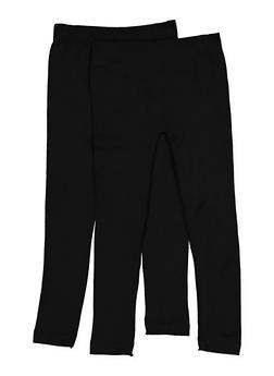 Girls 7-16 2 Pack Fleece Lined Leggings - 3619074410017
