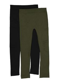 Girls 7-16 Fleece Lined Leggings Set - 3619074410018