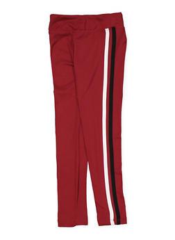 Girls 4-6x Varsity Stripe Leggings - 3620060580029