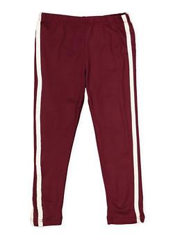 Girls 4-12 Varsity Stripe Leggings - 3620061950045