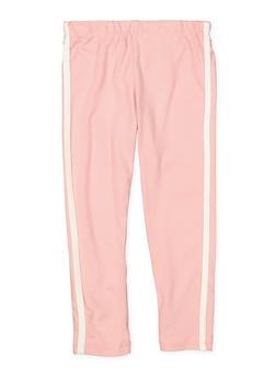 Girls 4-6x Soft Knit Varsity Stripe Leggings - 3620061950046