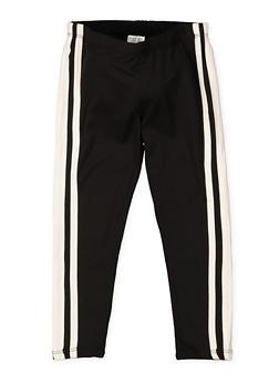 Girls 4-6x Varsity Stripe Soft Knit Leggings - 3620061950047