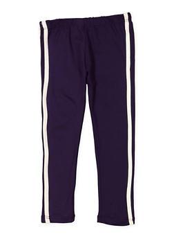 Girls 4-6x Varsity Stripe Leggings - 3620061950048