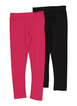 Girls 4-6x Pack of 2 Solid Leggings - 3620063370001