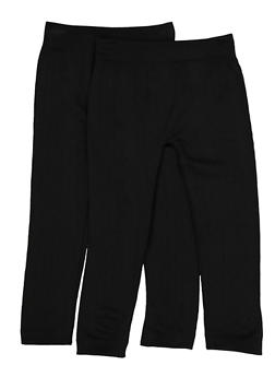 Girls 4-6x Two Pack Fleece Lined Leggings - 3620074410005