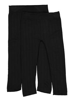 Girls 4-6x Fleece Lined Leggings Two Pack - 3620074410007