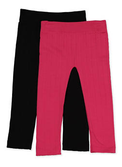 Girls 4-6x Cable Knit Leggings - 3620074410008