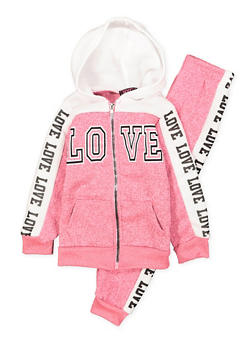 Girls 4-6x Graphic Sweatshirt and Sweatpants Set - 3622038340019