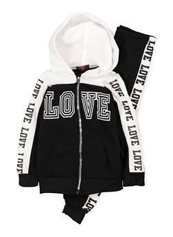 Girls 4-6x Graphic Sweatshirt and Sweatpants Set - 3622038340019