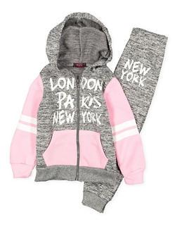 Girls 4-6x Graphic Sweatshirt and Sweatpants Set - 3622038340022