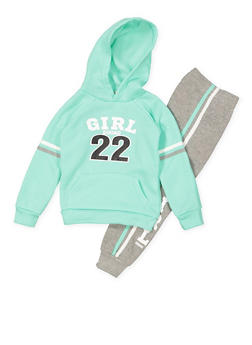 Girls 4-6x Girl Squad Graphic Sweatshirt and Joggers Set - 3622038340035