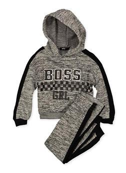 Girls 4-6x Boss Grl Sweatshirt and Joggers - 3622038340056