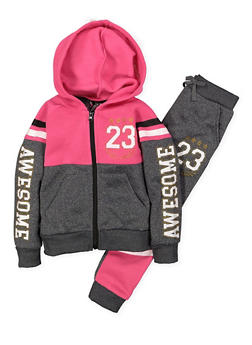 Girls 4-6x Graphic Sweatshirt and Joggers - 3622054730020