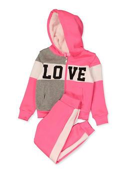 Little Girls Love Sweatshirt and Joggers - 3622056720020
