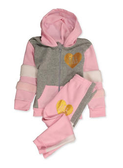 Girls 4-6x Grl Hero Sweatshirt and Sweatpants - 3622056990002