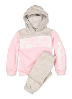 Girls 4-6x Fila Color Block Sweatshirt and Joggers Set - 3622075650001