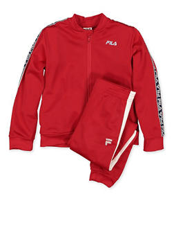 Girls 4-6x Fila Track Jacket and Joggers | Red - 3622075650003