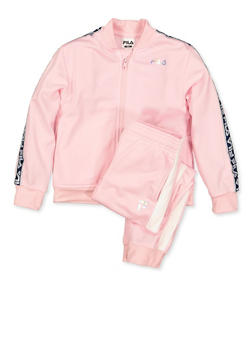 Girls 4-6x Fila Track Jacket and Joggers | Pink - 3622075650004