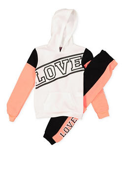Girls 7-16 Graphic Sweatshirt and Sweatpants - 3623038340006
