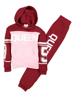 Girls 7-16 Graphic Sweatshirt and Sweatpants - 3623038340007