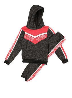 Girls 7-16 Love Graphic Sweatshirt and Joggers - 3623038340008