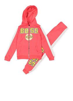 Girls 7-16 Boss Sweatshirt and Sweatpants Set - 3623038340022