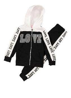 Girls 7-16 Love Graphic Sweatshirt and Joggers Set - 3623038340024