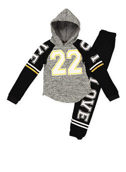 Girls 7-16 Love 22 Graphic Sweatshirt and Sweatpants - 3623038340029