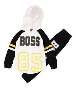 Girls 7-16 Boss Zip Up Sweatshirt and Sweatpants - 3623038340031