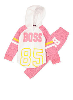 Girls 7-16 Boss Zip Up Sweatshirt and Sweatpants - 3623038340031