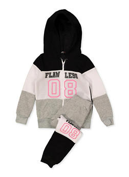 Girls 7-16 Flawless 08 Zip Sweatshirt and Joggers - 3623038340040