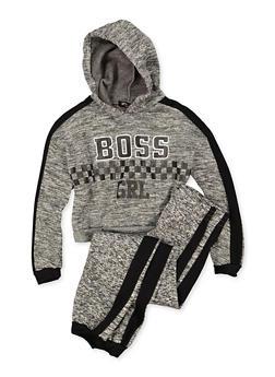Girls 7-16 Boss Grl Sweatshirt and Joggers - 3623038340046