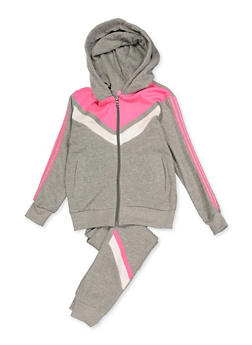 Girls 7-16 Love Color Block Sweatshirt and Joggers - 3623056720025