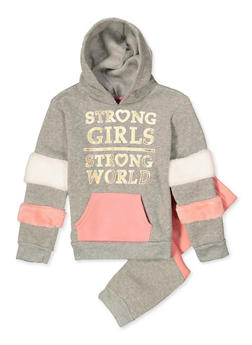 Girls 7-16 Strong Girls Strong World Sweatshirt with Joggers - 3623056990005