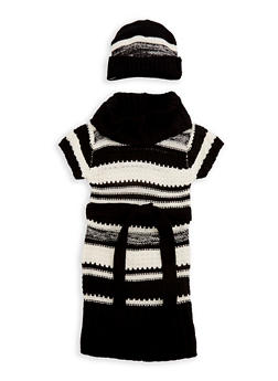 Girls 4-6x Cowl Neck Sweater Dress with Hat - 3624038340045