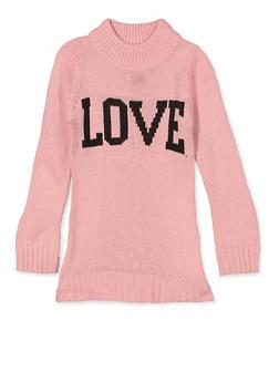 Girls 4-6x Love Knit Sweater - 3624038340050