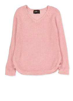 Girls 4-6x Caged Side Sweater - 3624038340059