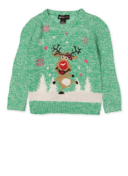 Girls 4-6x Reindeer Sweater - 3624038340065