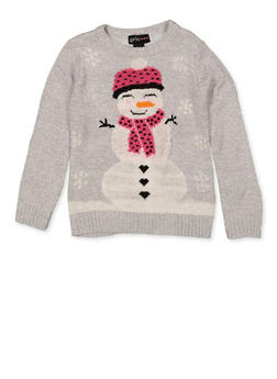 Girls 4-6x North Pole Snowman Sweater - 3624038340066