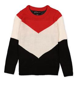 Tri Tone Chevron Sweater - 3625038340082