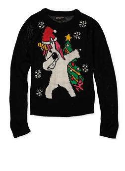 Girls 7-16 Christmas Animal Sweater - 3625038340087