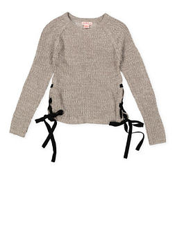 Girls 7-16 Lace Up Side Sweater - 3625044580001