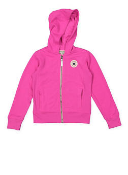 Girls 7-16 Converse Zip Up Hooded Sweatshirt - 3625070340003