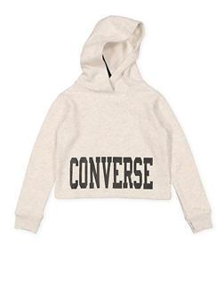 Girls 7-16 Converse Hooded Sweatshirt - 3625070340004