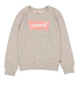 Girls 7-16 Levis Crew Neck Sweatshirt | Heather - 3625070340013